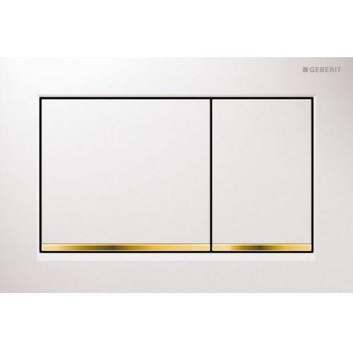 Geberit przycisk uruchamiający omega30, przedni/górny biały/kolor złota 115.080.kk.1