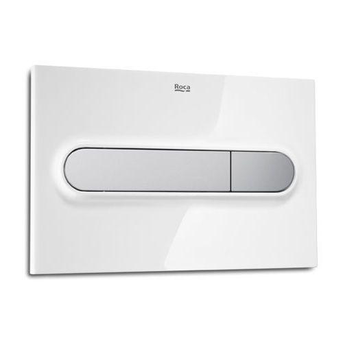 Roca pl1 przycisk z funkcją 3/6l, biały/chrom mat a890095005