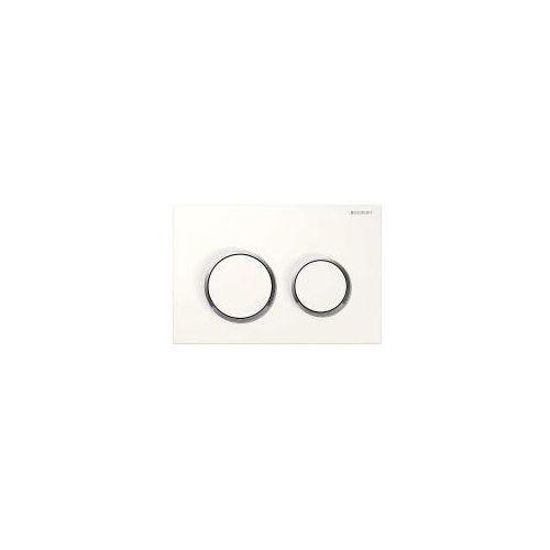 Omega20 przycisk uruchamiający przedni/górny biały/chrom błyszczący/biały - 115.085.kj.1 marki Geberit