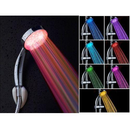 Beliani Słuchawka prysznicowa z kolorowym oświetleniem led - rainbow