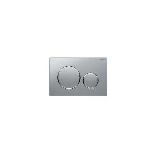 Geberit sigma20 przycisk uruchamiający chrom matowy/chrom błyszczący/chrom matowy 115.882.kn.1 (4025416544685)