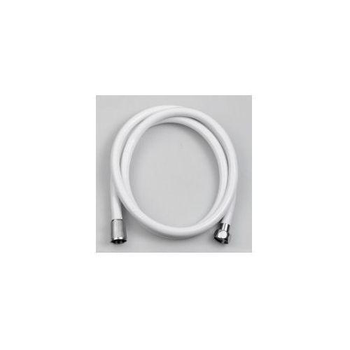 Aqualine Nopel wąż prysznicowy plastikowy 150 cm biały 11078 (8590913806681)