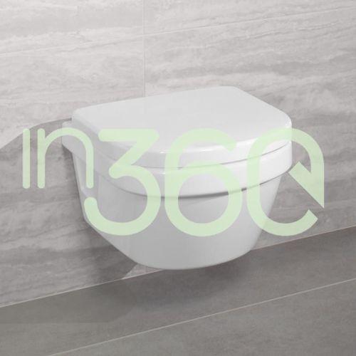 Villeroy & boch architectura miska wc wisząca compact, bezrantowa, directflush 350 x 480 mm weiss alpin ceramicplus 4687r0r1