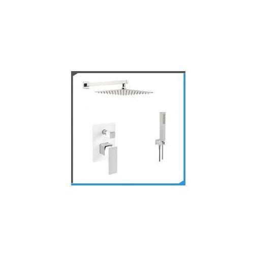 Podtynkowy zestaw prysznicowy z Omnires Parma PM7435CRB, biel + chrom ZEST190, ZEST190