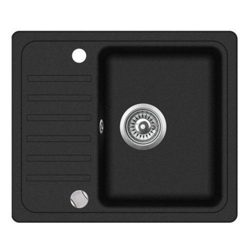 Zlewozmywak granitowy nexo czarny z półociekaczem 46x56x16 cm + syfon automatyczny marki Vbckueche