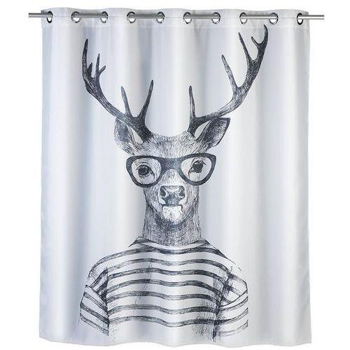 Zasłona prysznicowa mr deer, tekstylna, 180x200 cm, marki Wenko