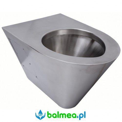 Miska ustępowa WC wisząca ze stali nierdzewnej FANECO, N13018