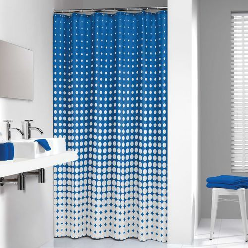 Sealskin zasłona prysznicowa speckles,180 cm, niebieski, 233601323 (8717821617127)