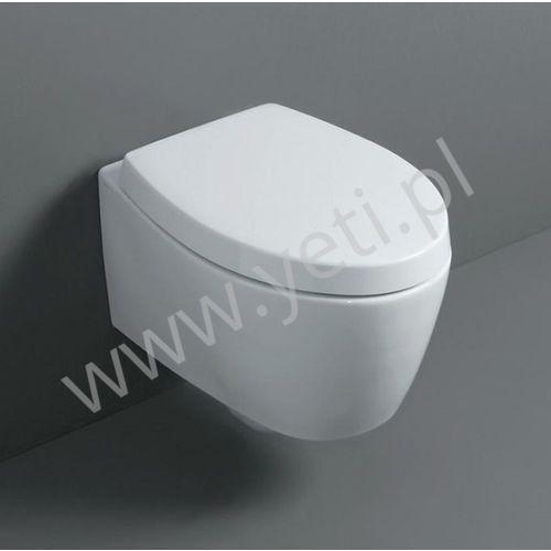 Simas LFT Spazio miska podwieszana biała z deską LFT18+LFT004