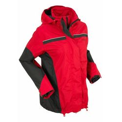 Kurtka na każdą pogodę 3 w 1 czerwono-czarny, Bonprix, 38-44