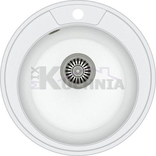 QUADRON zlewozmywak DANNY 210 biały metalik / odpływ stalowy (HB8301U1-BS)