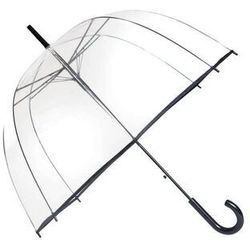 Smati - długi parasol - czarna bordiura - przeźroczysty