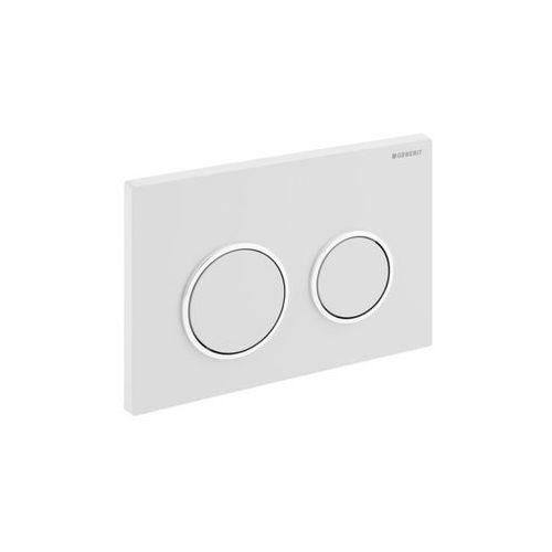 Geberit przycisk uruchamiający Omega20, przedni/górny biały/chrom mat 115.085.KL.1