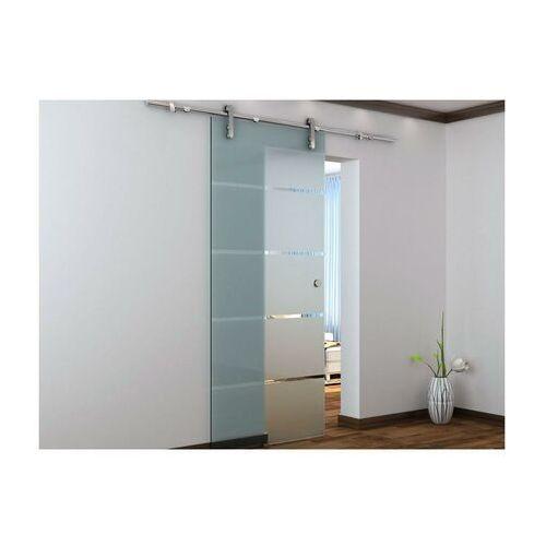 Vente-unique Naścienne drzwi przesuwne glassy - wys. 205 × szer. 83 cm - szkło hartowane