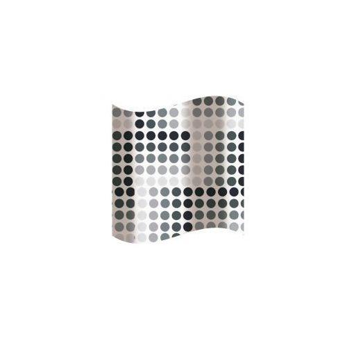 Awd interior zasłonka prysznicowa czarno-szare kółka awd02100843
