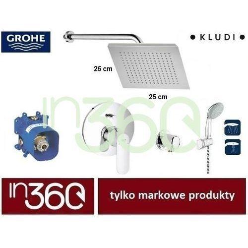 Grohe eurosmart cosmopolitan bateria, zestaw prysznicowy podtynkowy, deszczownica (6653105 +6651405 +19382000 +35501000 +2760110e +28671000) chrom in.000p702