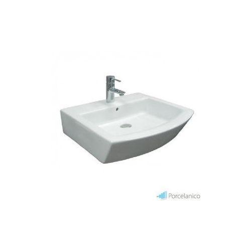 Roca hall 55 - zestaw umywalkowy (umywalka + targa bateria umywalkowa sztorcowa (korek automatyczny (5908310480428)