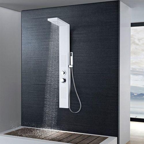 Vidaxl panel prysznicowy, aluminiowy, matowy, biały (8718475519928)