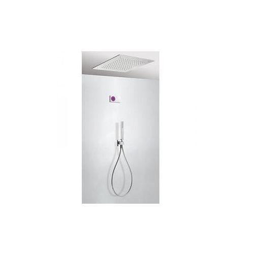 Tres shower technology kompletny zestaw prysznicowy podtynkowy termostatyczny elektroniczny 2-drożny deszczownica 500x500 mm chrom 09286561