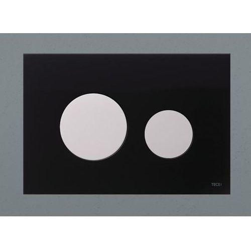 Tece przycisk spłukujący TECEloop szkło czarne, przyciski białe 9240654