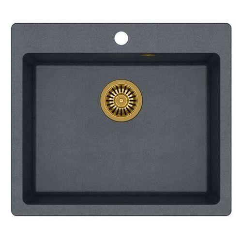 Quadron Zlewozmywak morgan 110 hb8304u8g1-bw7002g1 czarny metalik + bateria ingrid