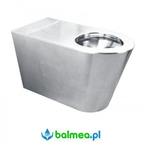 Miska ustępowa WC dla niepełnosprawnych ze stali nierdzewnej stojąca FANECO, URT207