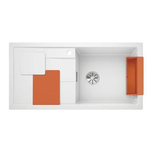 BLANCO SITY XL 6 S Silgranit PuraDur Biały prawa, InFino, z akcesoriami orange - Biały połysk