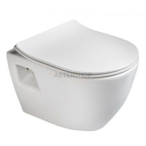 PAULA Miska WC podwieszana 35,5x50 cm, kolor: biały TP325