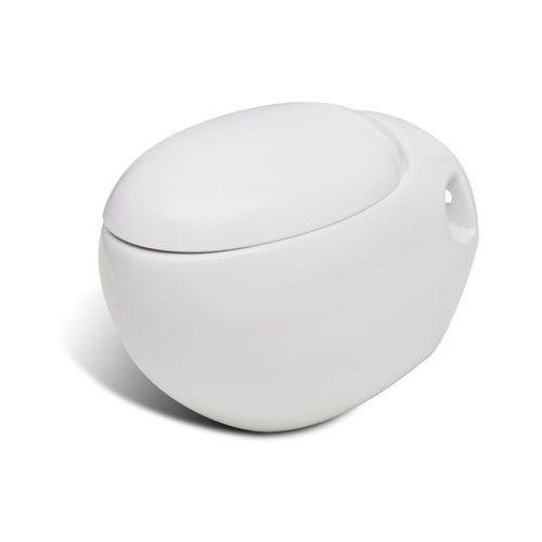 Vidaxl Toaleta wisząca o oryginalnej formie jaja, biała
