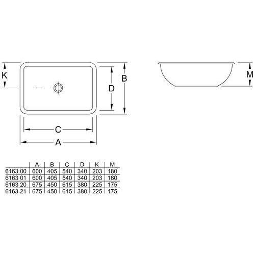 Villeroy & Boch Loop & friends 61 x 39 (6163 20 R1)