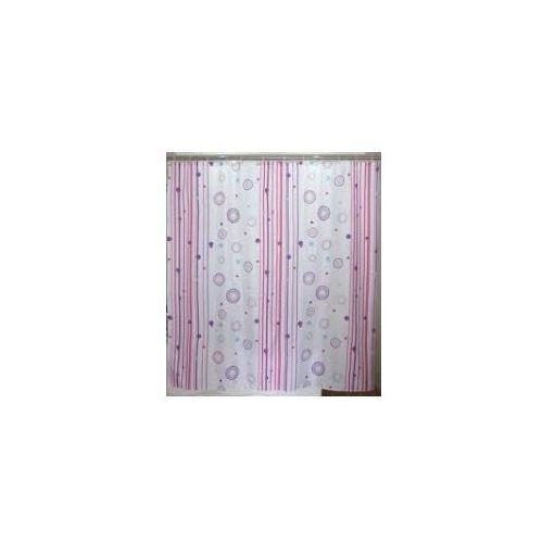 Awd interior zasłonka prysznicowa paski róż fiolet awd02100844