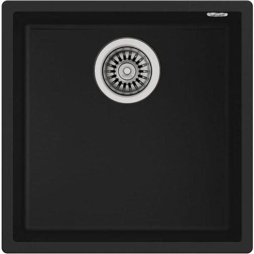 TEKA Zlew podwieszany SQUARE 40.40 TG czarny, kolor czarny