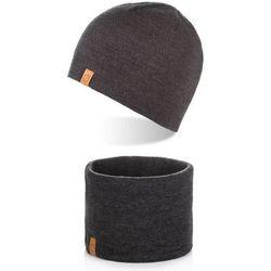 Brødrene komplet czapka z polarem ciepły komin
