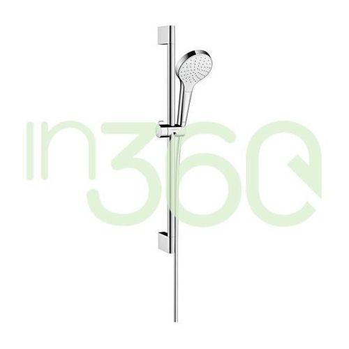 zestaw prysznicowy croma select s 1jet 0,65m, biały/chrom 26564400 marki Hansgrohe