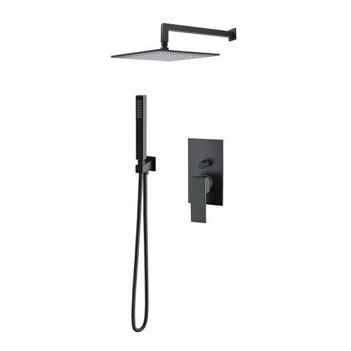 M&Z Cinque zestaw prysznicowy podtynkowy czarny mat CNQZES20/CZAR