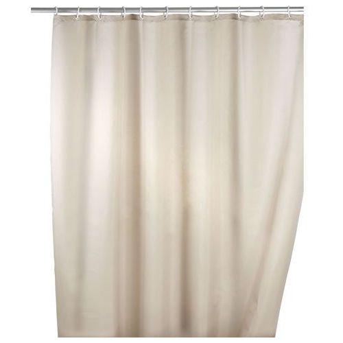 Wenko Zasłona prysznicowa, tekstylna, kolor beżowy, 180x200 cm, (4008838120569)