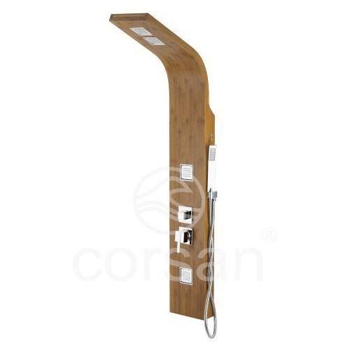 drewniany panel prysznicowy z mieszaczem bao b-022 marki Corsan