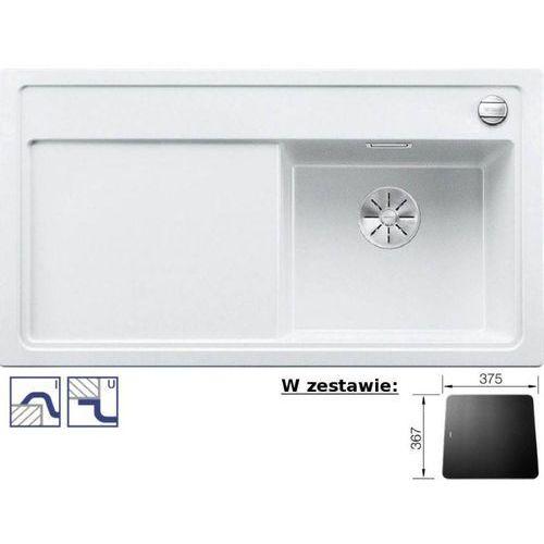 Zlewozmywak ZENAR 5S Silgranit PuraDur biały prawa komora z deską szklaną, z korkiem InFino i korkiem aut. (4020684687119)
