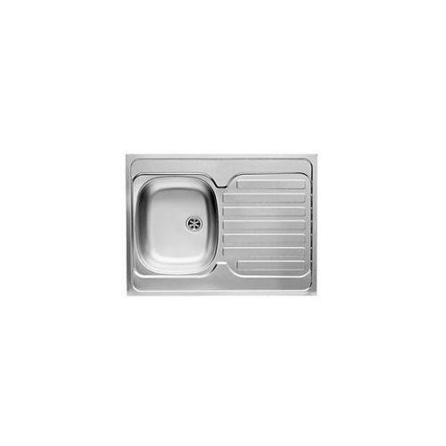 PYRAMIS INTL Zlewozmywak nakładany 1-komorowy z ociekaczem 80x60cm, komora lewa, stal gładka 100106001