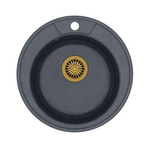 Quadron Zlewozmywak danny 210 hb8301u8g1-bw7002g1u8 czarny metalik + bateria ingrid + darmowy transport!