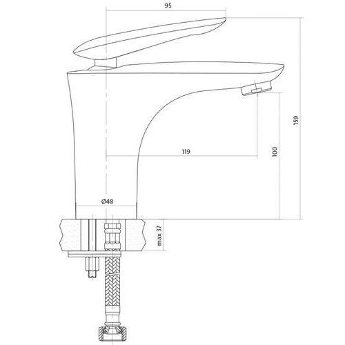 Bateria Cersanit Cersanit mayo s951-052 (chrom) S951-052