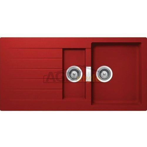 Schock Zlewozmywak signus d-150 rouge (cristadur) ___zamów wycięcie otworów gratis___